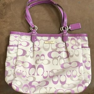 Purple/Gray Coach Purse